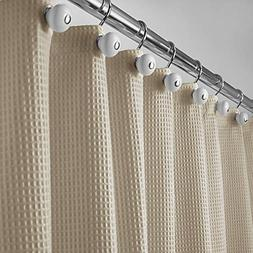 mDesign Polyester/Cotton Blend Fabric Shower Curtain with Wa
