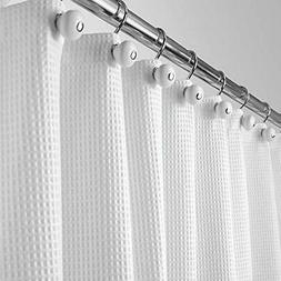 mDesign Hotel Quality Polyester Cotton Blend Fabric Shower C