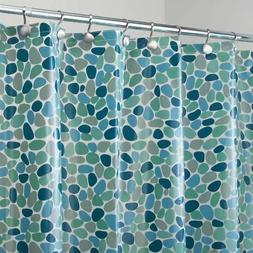 mDesign River Rocks PEVA Shower Curtain, MOLD & MILDEW Resis