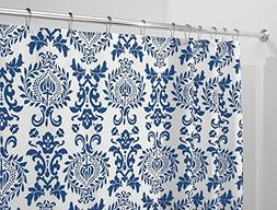 mdesign toile fabric shower curtain