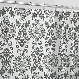 "mDesign Damask Fabric Shower Curtain - Long, 72"" x 84"", Char"