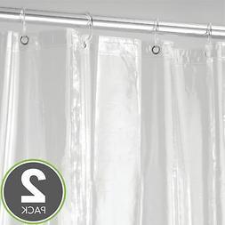 mDesign Vinyl 4.8 Gauge Waterproof Shower Curtain Liner - Pa