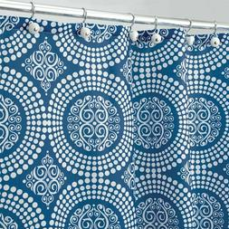 """InterDesign Medallion Shower Curtain, Stall/54 x 78"""", White/"""