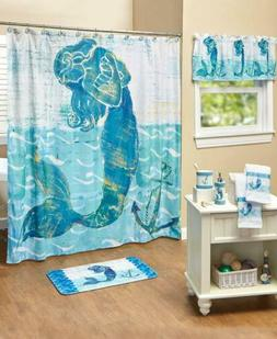 Mermaid Bathroom Collection Accessories Coastal Ocean Home D