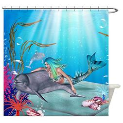 CafePress The Mermaid Decorative Fabric Shower Curtain