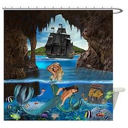 CafePress Mermaids of The Pirate Cave Decorative Fabric Show