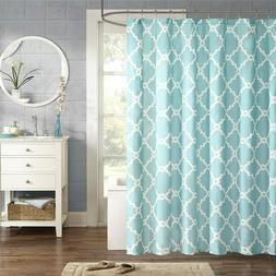 Madison Park Merritt Shower Curtain Black 108x72