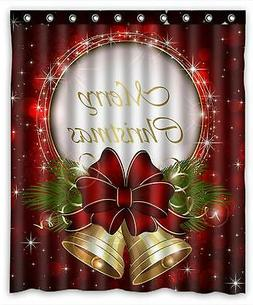 Merry Christmas Custom Fashion Shower Curtain 60-Inch by 72-