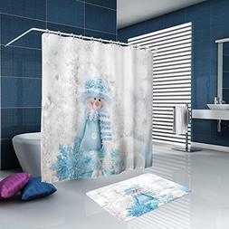 ALFALFA Merry Christmas Home Decor Polyester Fabric Bathroom