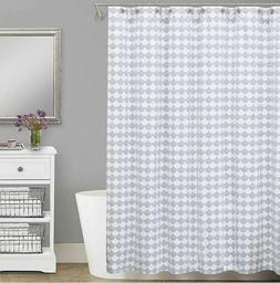 FINLEY Metalesse Shower Curtain 72 In x 72 In Grey/White