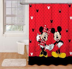 Disney Mickey and Minnie Fabric Shower Curtain Brand New