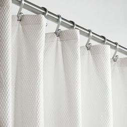 mDesign Microfiber Embossed Fabric Shower Curtain, Extra Wid