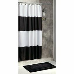 Mildew-Free Water-Repellent Zeno Fabric Shower Curtain, 54-I