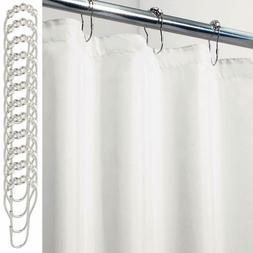 Mdesign Mildew-Free, Waterproof Fabric Shower Curtain/Liner