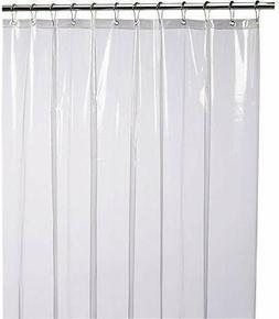 LiBa Mildew Resistant Anti-Microbial PEVA 8G Shower Curtain