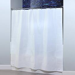 SlipX Solutions White Extra Wide PEVA Shower Curtain Liner F