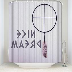 KAROLA Mildew Resistant Fabric Shower Curtain Waterproof/Wat