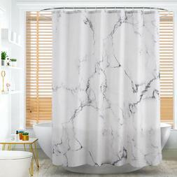 Mildew Resistant Fabric Shower Curtain Marble Grain Print Wa