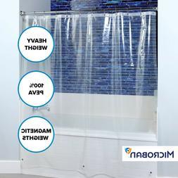 """70"""" x 72"""" Mildew Resistant Heavyweight PEVA Shower Liner wit"""