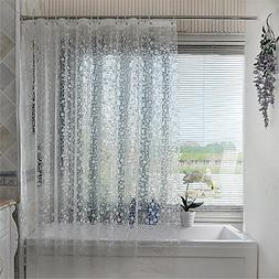 Mildew Resistant PEVA Semi-transparent Shower Curtain Waterp