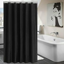 Yuunity Mildew Resistant Polyester Fabric Shower Curtain wit