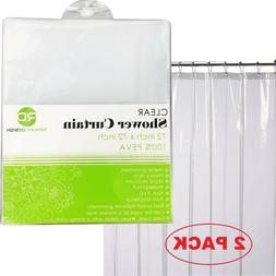 Mildew Resistant Shower Curtain Liner - 72x72 Clear Peva Cur