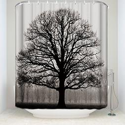 Prime Leader Mildew Resistant Shower Curtain-Tree Silhouette