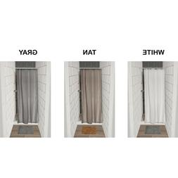 Mildew Resistant Small Stall Shower Curtain Liner Narrow Siz