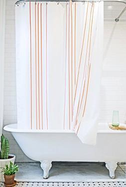 Bathage Modern Stripe Fabric Shower Curtain - Exclusive Wate