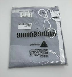 Ambesonne Modern 69-Inch x 84-Inch Shower Curtain in Silver