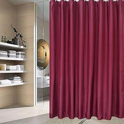 UFRIDAY Burgundy Shower Curtain Polyester No More Mildew and