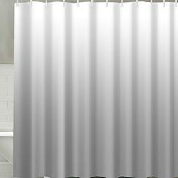 BROSHAN Modern Grey Shower Curtain Fabric,Gray Ombre Texture