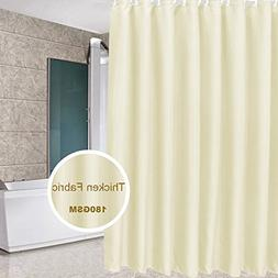 Eforcurtain Modern Hotel Solid Beige Shower Curtain Heavy Du