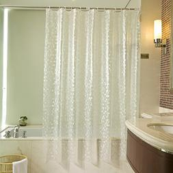 Uforme Stall Size Shower Curtain Ebossed Mosaic Patthern, 48