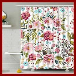 Modern Timesm Bathroom Shower Curtain Colorful Flower C Mult