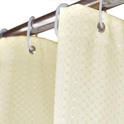 Eforcurtain Modern Water Repellent Waffle Shower Curtain Fab