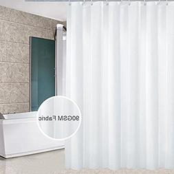 Eforcurtain Modern White Polyester Shower Curtain Water Proo