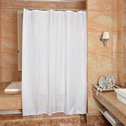 Uforme Modern Pure White Shower Curtain Mildew Proof for Lux