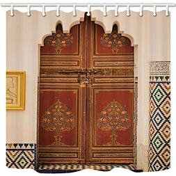 GoEoo Moroccan Architecture Shower Curtains for Bathroom Mor