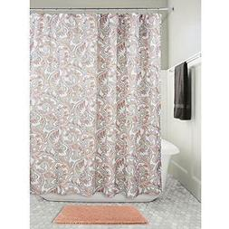"InterDesign Mosaic Vine Fabric Shower Curtain, 72"" X - Coral"