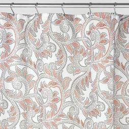 "InterDesign Mosaic Vine Fabric Shower Curtain, 72"" X 72"" - C"