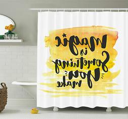 Ambesonne Motivate Quote Shower Curtain Set