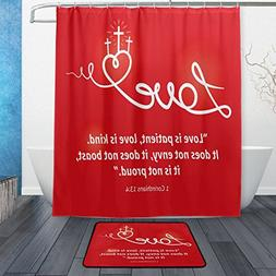 ALAZA Set of 2 Motivational Quote 60 X 72 Inches Shower Curt