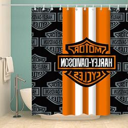 Motorcycle Racing Waterproof Shower Curtain Alphabet Letter