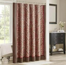 Madison Park Mp 70-3041 Talbot Jacquard Shower Curtain Brown
