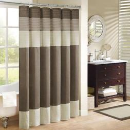 Madison Park MP70-2132 Amherst Shower Curtain 108x72 Natural