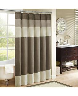 "Madison Park MP70-2132 Amherst Shower Curtain 108x72"" Natura"