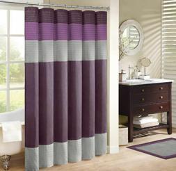 Madison Park MP70-222 Amherst Fabric Shower Curtain Purple72