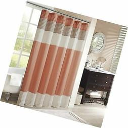 Madison Park MP70-2319 Amherst Shower Curtain 72x72 Coral 72