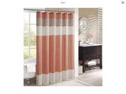 """Madison Park MP70-2319 Amherst Shower Curtain 72x72"""" Coral,"""